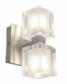 Access Lighting (23906) Astor 2-Light Crystal Vanity Fixture shown in Brushed Steel