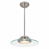 Access Lighting (50441) Phoebe 13.5 Inch Pendant shown in Brushed Steel