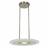 Access Lighting (50484) Helius 20 Inch Pendant shown in Brushed Steel