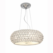 Access Lighting (51000) Kristal 3-Light Pendant shown in Chrome