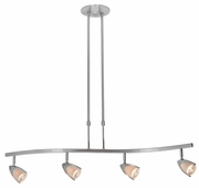 Access Lighting (52032) Comet 4-Light Adjustable 35.5 Inch Island Pendant shown in Brushed Steel