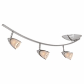 Access Lighting (52034) Comet 3-Light 35 Inch Linear Ceiling Mount shown in Brushed Steel