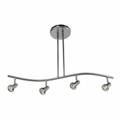 Access Lighting (52206) Cobra 4-Light 33 Inch Directional Island Fixture shown in Brushed Steel