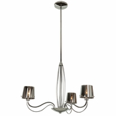 Access Lighting (55532) Milano 3-Light Chandelier shown in Chrome