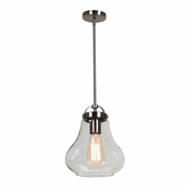 Access Lighting (55545) Flux 7.5 Inch Mini-Pendant shown in Antique Nickel