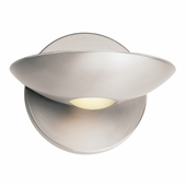 Access Lighting (62084) Helius Metal Sconce with Opal Glass Downlight shown in Brushed Steel