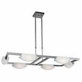 Access Lighting (63962) Nido 6-Light Chandelier shown in Matte Chrome