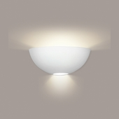 Aegina Wall Sconce 1 Light Fixture shown in Bisque by A19 Lighting