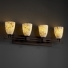 Justice Design (ALR-8704) Aero 4-Light Bath Bar from the Alabaster Rocks! Collection