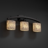 Justice Design (ALR-8593) Archway 3-Light Bath Bar from the Alabaster Rocks! Collection