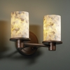 Justice Design (ALR-8512) Rondo 2-Light Bath Bar from the Alabaster Rocks! Collection