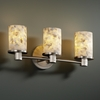 Justice Design (ALR-8513) Rondo 3-Light Bath Bar from the Alabaster Rocks! Collection