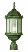 Alicante 1 Light Post Lantern shown in Verde Green by Trans Globe Lighting