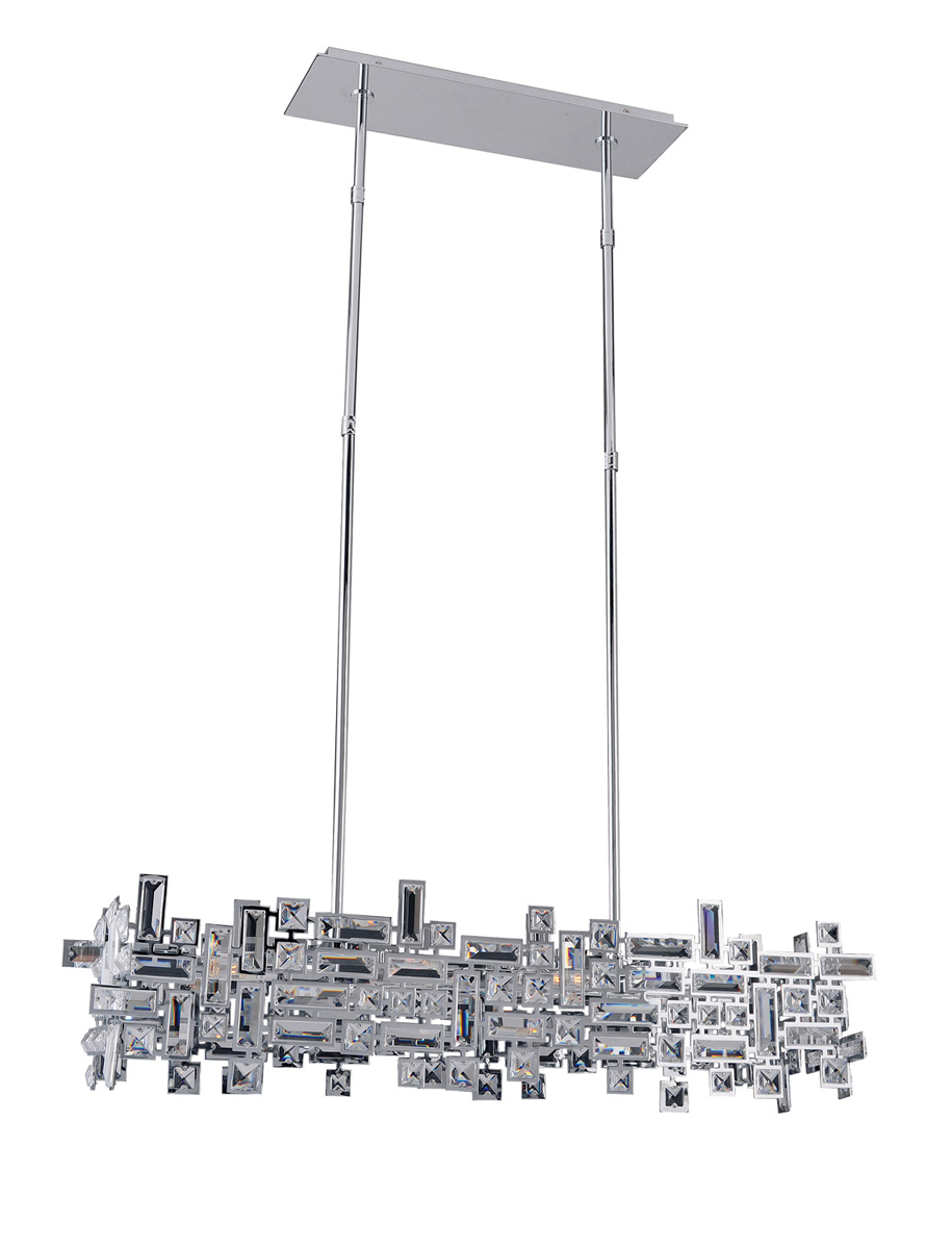 Crystal Kitchen Island Lighting Allegri Crystal Lighting 11198 Vermeer 6 Light Island Fixture