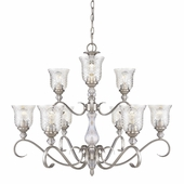 Alston Place 2 Tier Chandelier in Pewter by Golden Lighting