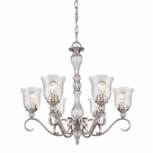 Alston Place 6 Light Chandelier in Pewter by Golden Lighting