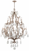 Amadeus Interior 12 Light Chandelier Ceiling Mount shown in Vienna Bronze by Corbett Lighting