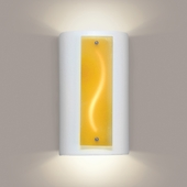 Amber Current Wall Sconce 1 Light Fixture shown in White Satin by A19 Lighting
