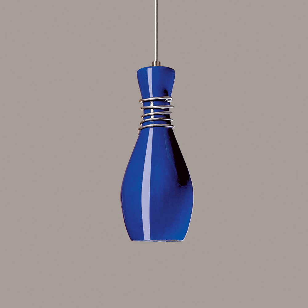 mini pendant 1 light fixture shown in cobalt blue by a19 lighting. Black Bedroom Furniture Sets. Home Design Ideas