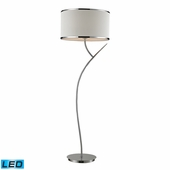 Annika Steel Floor Lamp shown in Polished Chrome by Dimond Lighting