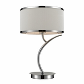 Annika Steel Table Lamp shown in Polished Chrome by Dimond Lighting