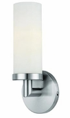 Aqueous Wall Fixture shown in Brushed Steel by Access Lighting