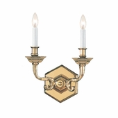 Arlington Collection 2 Light Sconces shown in Polished Brass by Crystorama Lighting