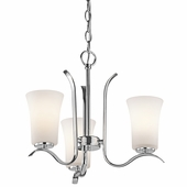 Armida Chandelier 3 Light shown in Chrome by Kichler Lighting