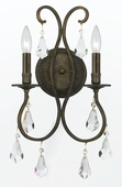Crystorama (5012-EB-CL-MWP) Ashton 2 Light Clear Crystal Bronze Sconce