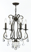 Crystorama (5014-EB-CL-MWP) Ashton 4 Light Clear Crystal Bronze Mini Chandelier