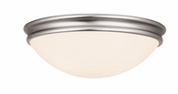 Atom Flush-Mount shown in Brushed Steel by Access Lighting
