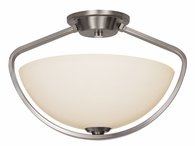 "Avant Arc 15"" Semi Flushmount shown in Brushed Nickel by Trans Globe Lighting"