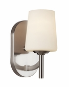 Avant Arc Single Light Sconce shown in Brushed Nickel by Trans Globe Lighting
