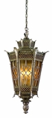 Avignon Exterior 4 Light Hanging Lantern Ceiling Mount shown in Avignon Bronze by Corbett Lighting