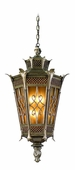 Avignon Exterior 6 Light Hanging Lantern Ceiling Mount shown in Avignon Bronze by Corbett Lighting