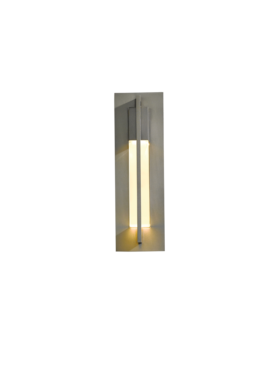 Hubbardton Forge (306401) 1 Light Axis Small Outdoor Sconce shown in Burnished Steel Translucent Finish