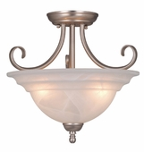 "Vaxcel Lighitng (CF65353) Babylon 14"" Semi-Flush (Dual Mount)"