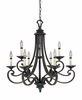 Designers Fountain (9039-NI) Barcelona 9 Light Chandelier in Natural Iron