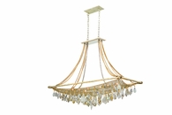 Barcelona Interior 12 Light Island Ceiling Mount shown in Silver and Gold Leaf by Corbett Lighting