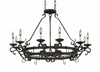 Designers Fountain (9031-NI) Barcelona 12 Light Chandelier with Pot Rack in Natural Iron