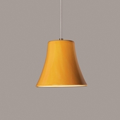 Bella Mini Pendant 1 Light Fixture shown in Sunflower Yellow by A19 Lighting