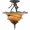Bellissimo- Global Style Bellissimo  Semi-Flush Mount In Imperial Bronze Finish From Quoizel Lighting- BLDS1715IB