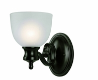 Bishop 1 Light Wall Sconce shown in Rubbed Oil Bronze by Trans Globe Lighting