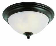 Bishop 2 Light Flush-mount shown in Rubbed Oil Bronze by Trans Globe Lighting