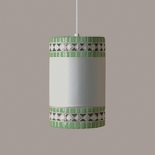 Borders Pendant 1 Light Fixture shown in Mint Green by A19 Lighting