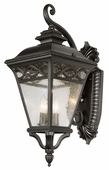 Braided 2 Light Coach Lantern shown in Black by Trans Globe Lighting