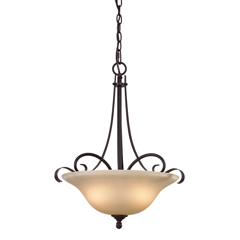 Brighton 3 Light Large Pendant Shown In Oil Rubbed Bronze By Cornerstone Ligh