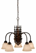 Vaxcel Lighitng (CH55405) Bryce 5 Light Chandelier