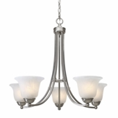 Candace 5 Light Chandelier in Pewter by Golden Lighting