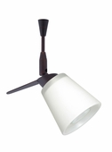Canto 3 Spotlight Quick Connect shown in Bronze with White Glass Shade by Besa Lighting